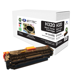 Jet Tec H320 remanufactured black HPCE320A toner printer cartridges