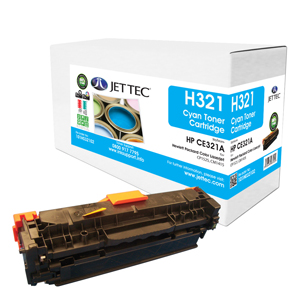 Jet Tec H321 remanufactured cyan HPCE321A laser printer cartridges