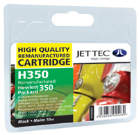 Jet Tec H350 remanufactured black HP350 CB335EE ink printer cartridges