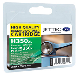Jet Tec H350XL remanufactured black HP350XL CB336EE inkjet cartridges