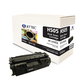 Jet Tec H505 remanufactured black HPCE505A toner printer cartridges