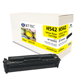 Jet Tec H542 remanufactured yellow HP CB542A laser printer cartridges