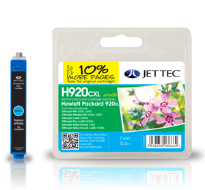 Jet Tec H920CXL remanufactured cyan HP920XL CD972AE inkjet cartridges
