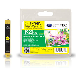 Jet Tec H920YXL remanufactured yellow HP920XL CD974AE ink cartridges