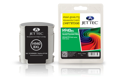 Jet Tec H940BXL remanufactured black HP940XL C4906AE ink cartridges