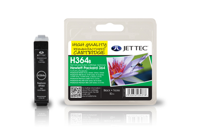 Jet Tec H364B remanufactured black HP364 CB316EE ink printer cartridge