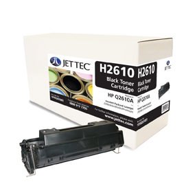 Jet Tec H2610 remanufactured black HP Q2610A toner printer cartridges