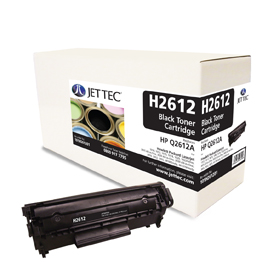 Jet Tec H2612 remanufactured black HP Q2612A laser printer cartridges