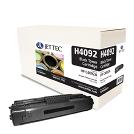 Jet Tec H4092 remanufactured black HP C4092A laser toner cartridges