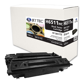 Jet Tec H6511HC remanufactured black HP Q6511X toner printer cartridge