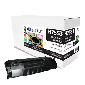 Jet Tec H7553 remanufactured black HP Q7553A laser toner cartridges
