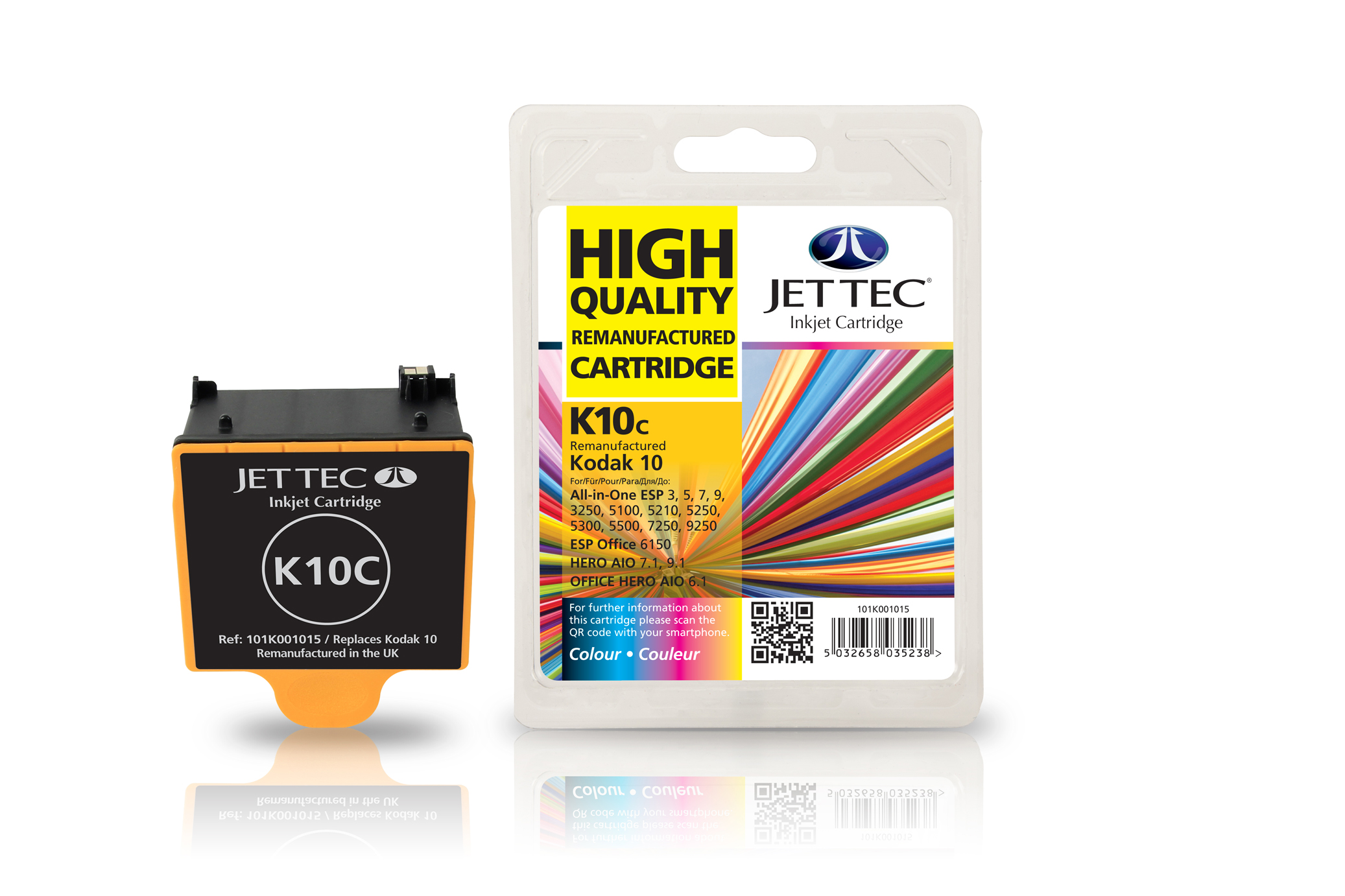 Jet Tec K10C remanufactured Kodak 10 colour inkjet printer cartridges