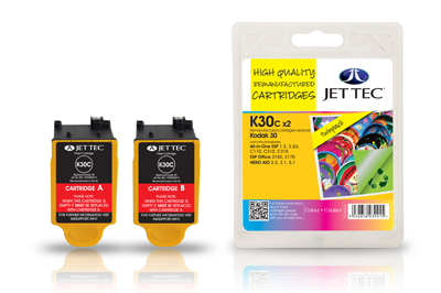 Jet Tec K30C remanufactured Kodak 30 colour inkjet printer cartridges