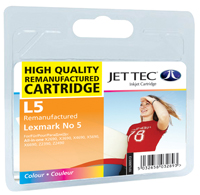 Jet Tec L5 remanufactured colour Lexmark No5 18C1960E ink cartridges