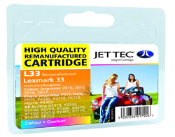 Jet Tec L33 remanufactured colour Lexmark 18C0033 inkjet cartridges