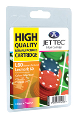 Jet Tec L60 remanufactured colour Lexmark 17G0060 inkjet cartridges