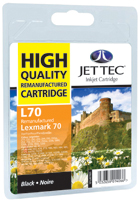 Jet Tec L70 remanufactured black Lexmark 12A1970 ink printer cartridge