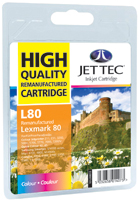 Jet Tec L80 remanufactured colour Lexmark 12A1980 inkjet cartridges