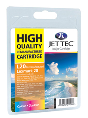 Jet Tec L20 remanufactured colour Lexmark 15M0120 inkjet cartridges