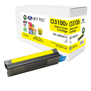 Jet Tec O3100Y remanufactured OKI 42804513 toner printer cartridges