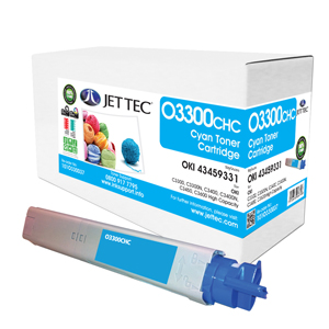 Jet Tec O3300CHC remanufactured OKI 43459331 laser toner cartridges