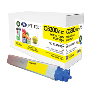 Jet Tec O3300YHC remanufactured OKI 43459329 laser printer cartridges