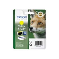 Epson T1284 yellow inkjet printer cartridges - FREE UK delivery!