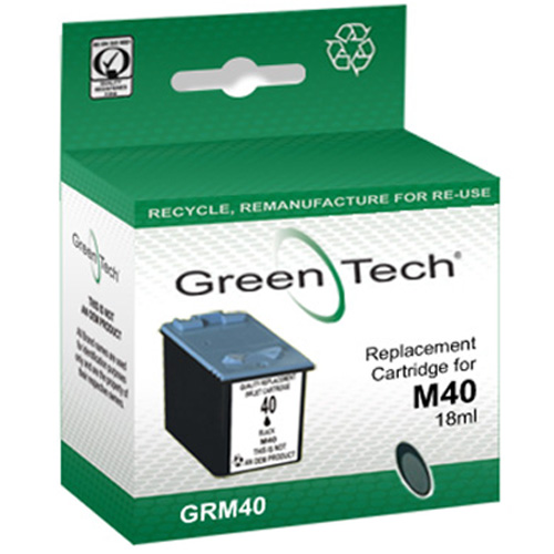 Greentech GRM40 remanufactured black Samsung M40 ink printer cartridge