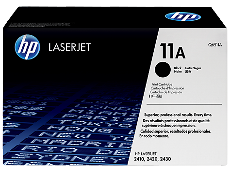 HP Q6511A black original OEM laser toner printer cartridges