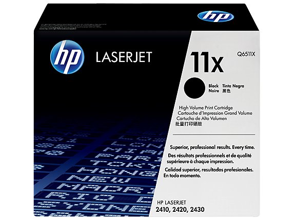 HP Q6511X black original OEM laser toner printer cartridges