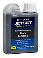 Jet Tec R22B all purpose universal black cartridges refill kits 250ml