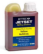 Jet Tec R22Y all purpose universal yellow cartridges refill kits 250ml