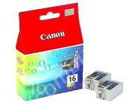 Canon BCI-16 colour inkjet printer cartridges two per pack