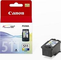 Canon CL-511 colour inkjet printer ink cartridges standard capacity