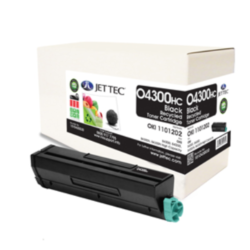 Jet Tec O4300HC remanufactured OKI 1101202 toner printer cartridges