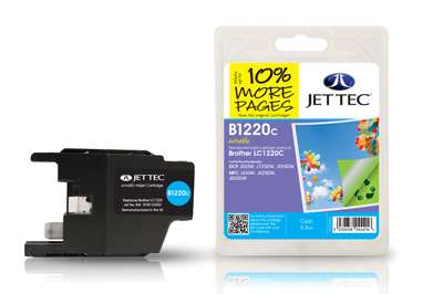 Jet Tec B1220C Remanufactured Brother LC1220 Cyan Ink Cartridges