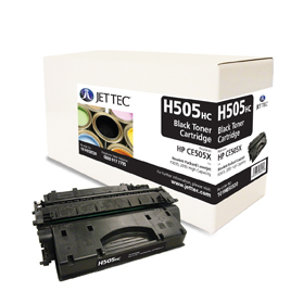 Jet Tec H505HC remanufactured black HPCE505X toner printer cartridges